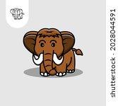 mammoth logo icon on white...