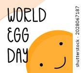 world egg day hand lettering...   Shutterstock .eps vector #2028067187