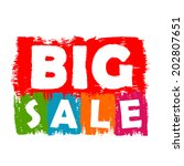 big sale drawn label   text in... | Shutterstock .eps vector #202807651