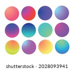 rounded holographic gradient... | Shutterstock .eps vector #2028093941