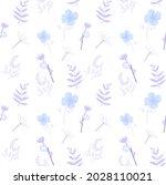 winter gentle flowers and...   Shutterstock .eps vector #2028110021