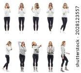 collage of women morning... | Shutterstock . vector #2028123557