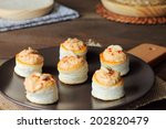 vol au vents filled with... | Shutterstock . vector #202820479