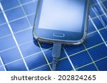 solar mobile phone chargers on... | Shutterstock . vector #202824265