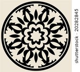 baroque round ornament | Shutterstock .eps vector #20282845