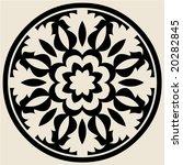 baroque round ornament | Shutterstock .eps vector #20282845