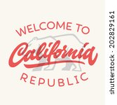 vintage california republic... | Shutterstock .eps vector #202829161