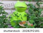 Whimsical Metal Farmer Frog In...