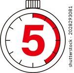electronic digital stopwatch....   Shutterstock .eps vector #2028293081