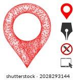 mesh map marker web 2d vector...   Shutterstock .eps vector #2028293144