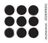 ink black stroke element  brush ...   Shutterstock .eps vector #2028398501