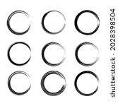 ink black stroke element  brush ...   Shutterstock .eps vector #2028398504
