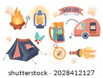 stickers of tourist trip.... | Shutterstock .eps vector #2028412127