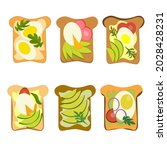 set of delicious sandwiches... | Shutterstock .eps vector #2028428231