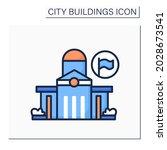 public office color icon....   Shutterstock .eps vector #2028673541