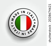 made in italy text emblem badge ... | Shutterstock .eps vector #2028674621