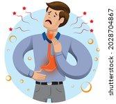 gastroesophageal reflux... | Shutterstock .eps vector #2028704867