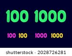 number one hundred  100  and... | Shutterstock .eps vector #2028726281