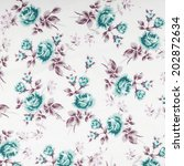 vintage floral fabric | Shutterstock . vector #202872634