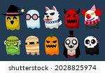 halloween cute ghost character... | Shutterstock .eps vector #2028825974