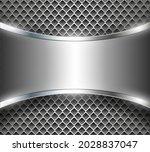silver metal 3d background ... | Shutterstock .eps vector #2028837047