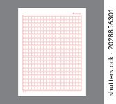 vertical squared manuscript... | Shutterstock .eps vector #2028856301
