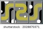 Elegant Geometric Triptych....