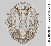 tattoo and t shirt design black ... | Shutterstock .eps vector #2028907241