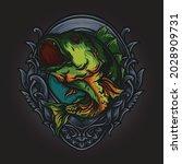 artwork illustration and t... | Shutterstock .eps vector #2028909731
