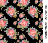 watercolor floral seamless... | Shutterstock . vector #202904401