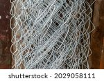 Metal Chain Mesh Twisted Into A ...