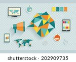 vector collection of flat... | Shutterstock .eps vector #202909735