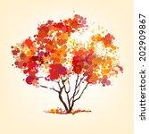 autumn vector tree of blots... | Shutterstock .eps vector #202909867