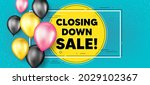 closing down sale. balloons... | Shutterstock .eps vector #2029102367