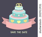 wedding romantic invitation... | Shutterstock .eps vector #202911931