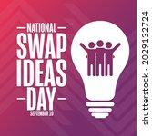 national swap ideas day.... | Shutterstock .eps vector #2029132724