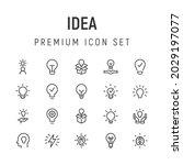 premium pack of idea line icons....