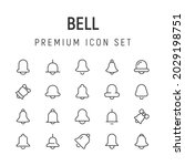premium pack of bell line icons....