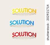 realistic design element ... | Shutterstock . vector #202921714