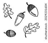 vector doodle autumn set with...   Shutterstock .eps vector #2029231604