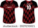 women sports jersey t shirt... | Shutterstock .eps vector #2029253021