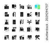 power bank usage black glyph... | Shutterstock .eps vector #2029294757