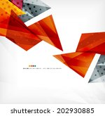 3d futuristic shapes vector... | Shutterstock .eps vector #202930885