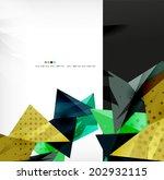3d futuristic shapes vector... | Shutterstock .eps vector #202932115