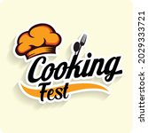 cooking fest. icon that can use ... | Shutterstock .eps vector #2029333721