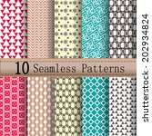 seamless patterns set   with... | Shutterstock .eps vector #202934824