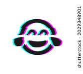 vector icon of glitch laughing...   Shutterstock .eps vector #2029348901