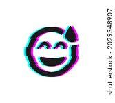 vector icon of glitch smile...   Shutterstock .eps vector #2029348907