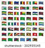 flags of africa   Shutterstock .eps vector #202935145