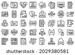 two factor authentication icons ...   Shutterstock .eps vector #2029380581